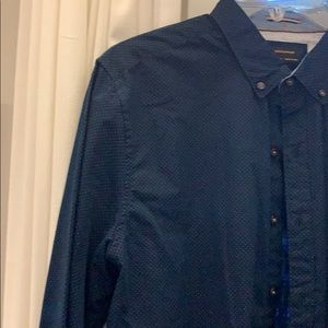 Other - Button down dotted dress shirt